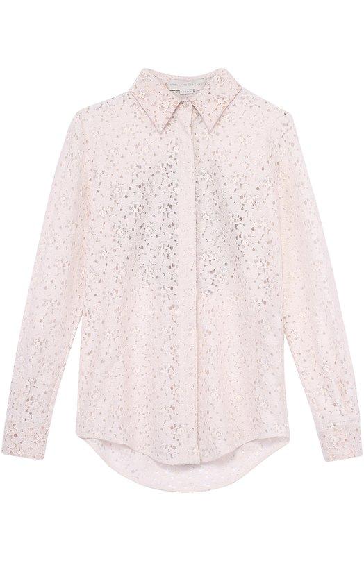 Кружевная блуза прямого кроя с отделкой на спинке Stella McCartney 430654/SHA10