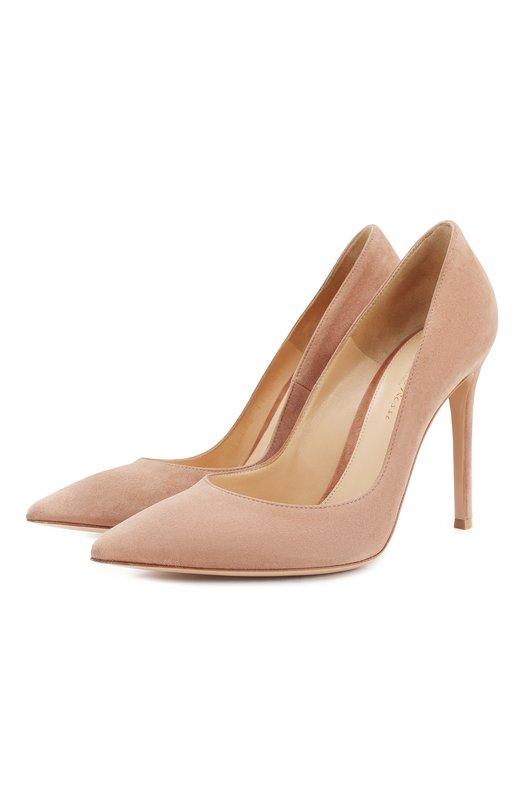 Купить Замшевые туфли Gianvito 105 на шпильке Gianvito Rossi Италия 2167696 G28470/SUEDE