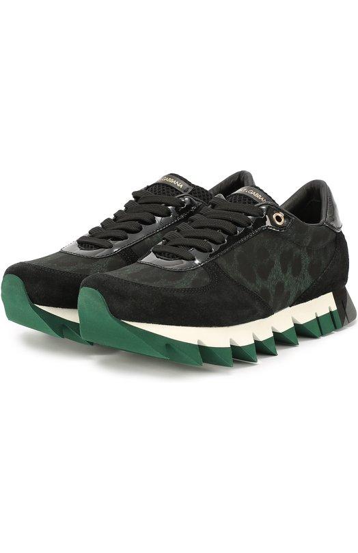 Комбинированные кроссовки Capri с принтом Dolce & Gabbana 0112/CK0079/AE010