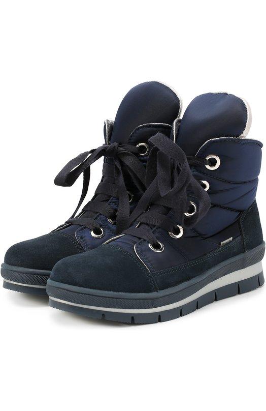 Комбинированные ботинки на шнуровке Jog Dog 14007R-R/SILVER