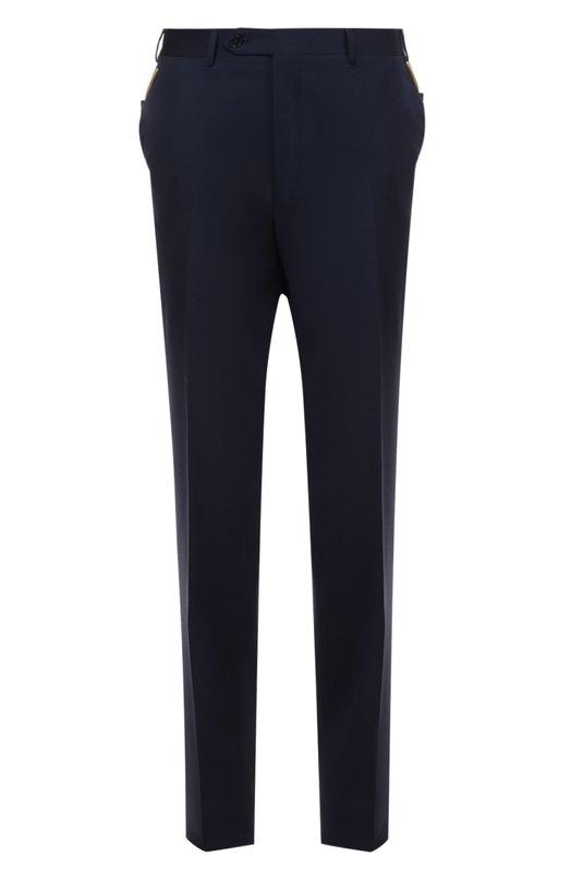 Классические шерстяные брюки CanaliБрюки<br><br><br>Российский размер RU: 52<br>Пол: Мужской<br>Возраст: Взрослый<br>Размер производителя vendor: 50<br>Материал: Шерсть: 100%;<br>Цвет: Темно-синий