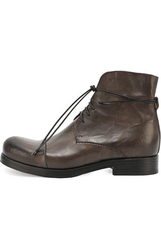 Высокие кожаные ботинки с круглым мысом Mauron Z050/PANIA