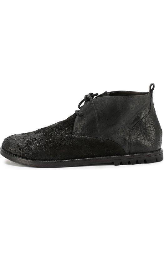 Кожаные ботинки с эффектом состаривания Marsell MM2051/H0RSE