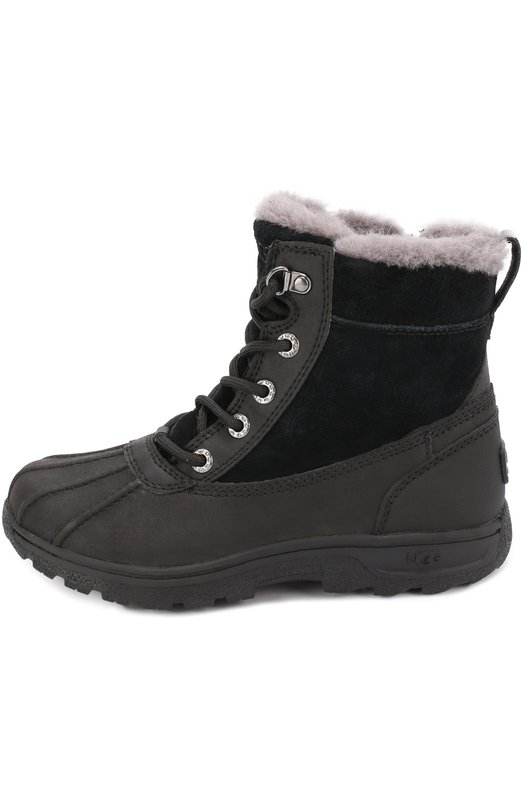 Комбинированные ботинки на шнуровке UGG Australia 1012384K