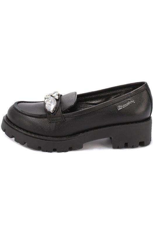 Кожаные туфли с кристаллами Simonetta 39006/28-35