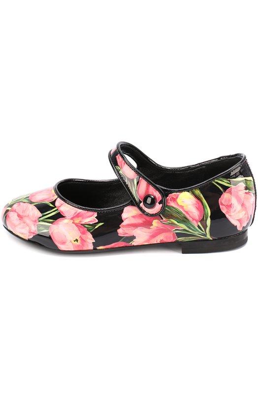 Лаковые туфли с цветочным принтом Dolce & Gabbana 0132/D10538/AC733/19-28