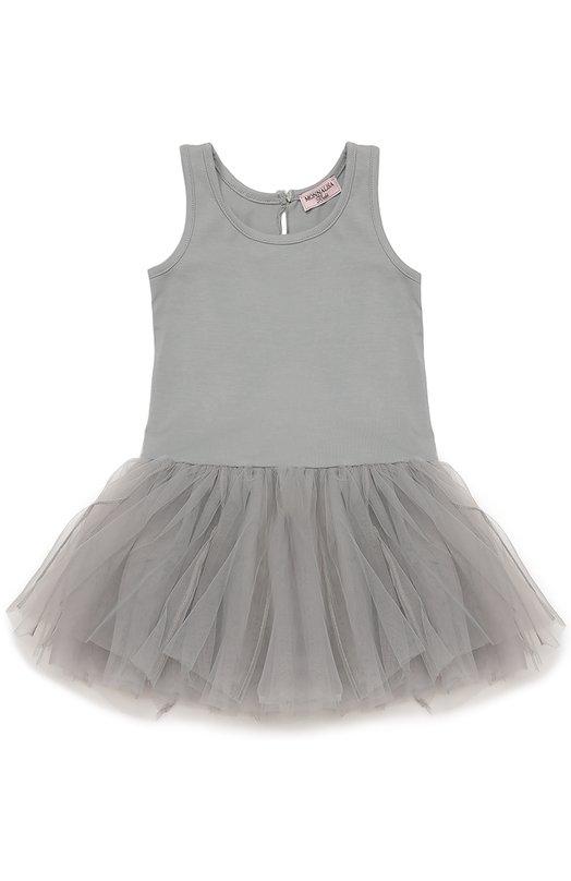 Платье джерси с пышной юбкой Monnalisa 398900/8040
