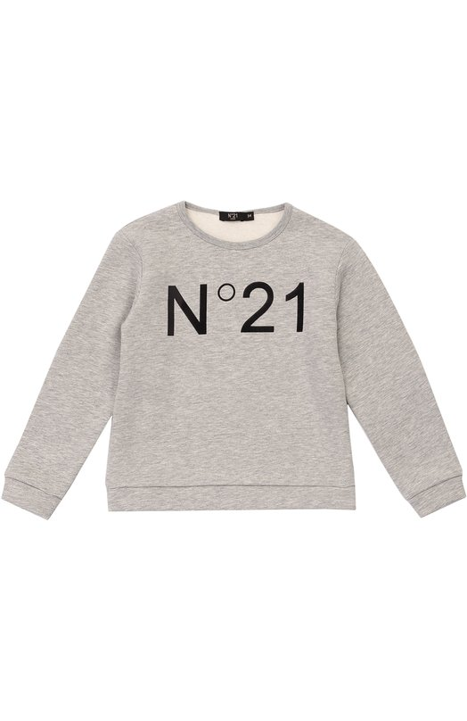 Хлопковый свитшот с логотипом бренда No. 21 26 X/Y802/3794/34-42