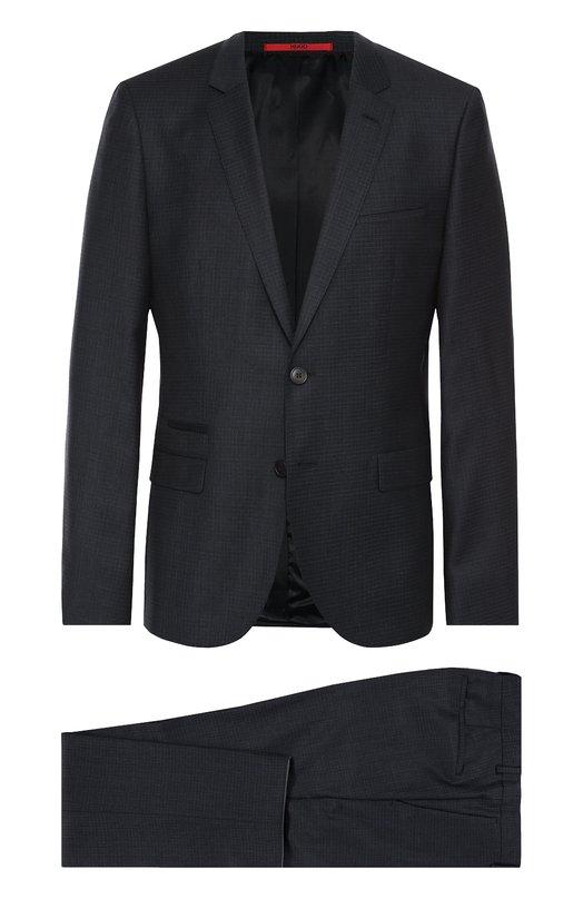 Шерстяной приталенный костюм HUGO 50314323