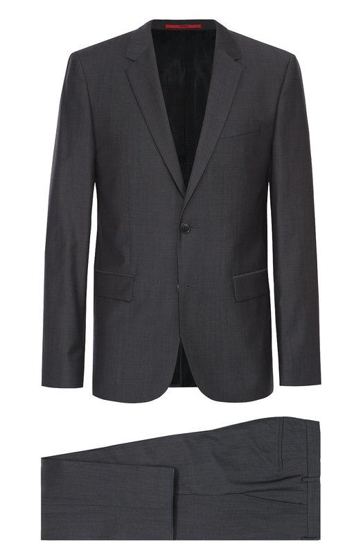 Шерстяной приталенный костюм HUGO 50313796