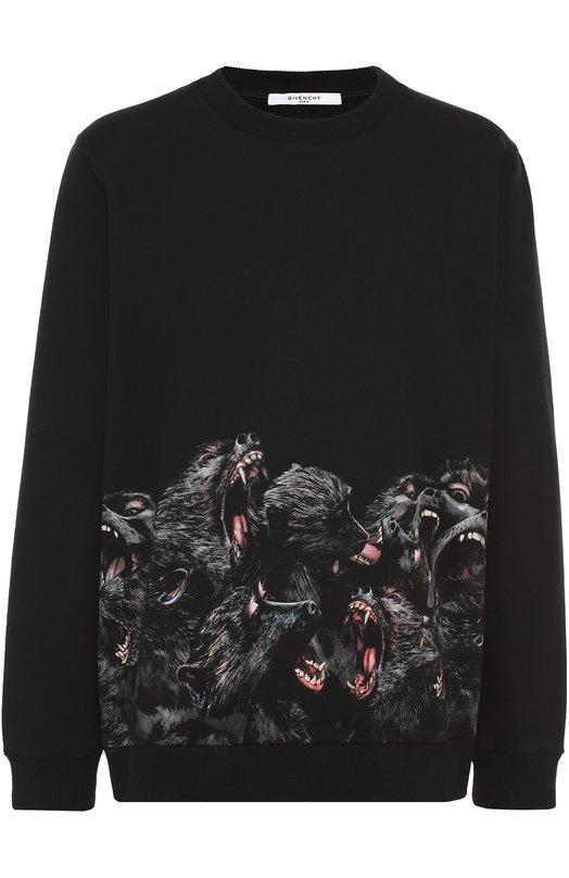 Хлопковый свитшот с принтом Givenchy 16F/7308/653