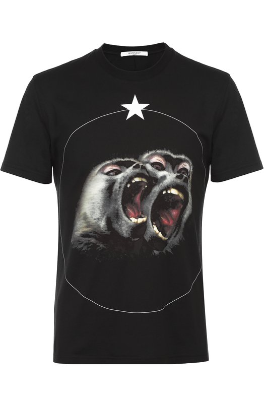 Хлопковая футболка с принтом Givenchy 16F/7360/651