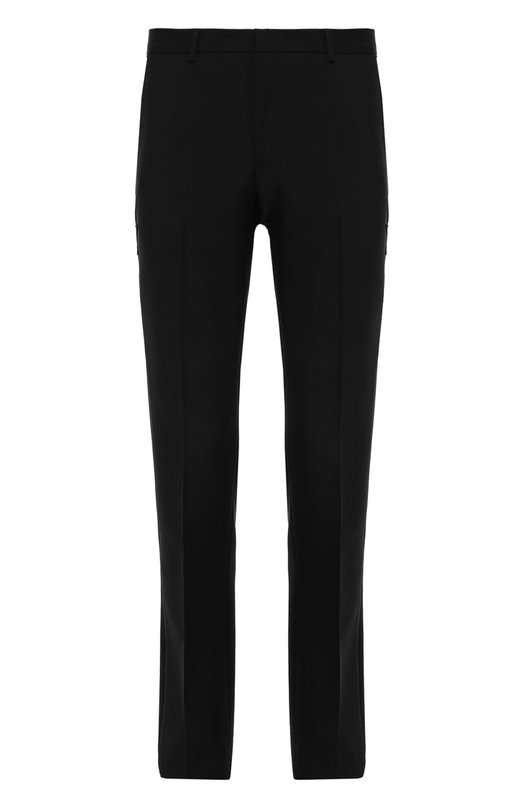 Шерстяные брюки прямого кроя с нашивками Givenchy 16F/5263/005