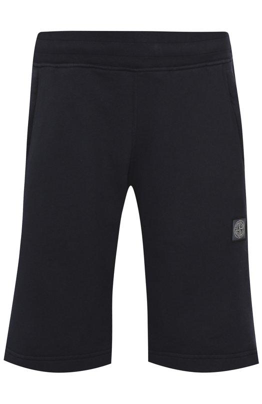 Хлопковые шорты джерси с карманами Stone Island 651565151