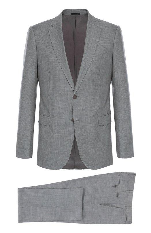 Шерстяной костюм с мелким узором Armani Collezioni UCVMEB/UC256