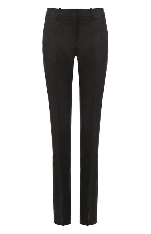 Шерстяные брюки прямого кроя со стрелками HUGOБрюки<br><br><br>Российский размер RU: 46<br>Пол: Женский<br>Возраст: Взрослый<br>Размер производителя vendor: 38<br>Материал: Шерсть: 99%; Эластан: 1%;<br>Цвет: Темно-серый