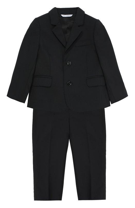 Классический костюм из шерсти Dolce & Gabbana 0131/L11U17/FUBBG