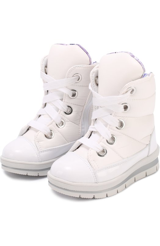 Текстильные ботинки на шнуровке Jog Dog 13008R-R/WHITE/23-28