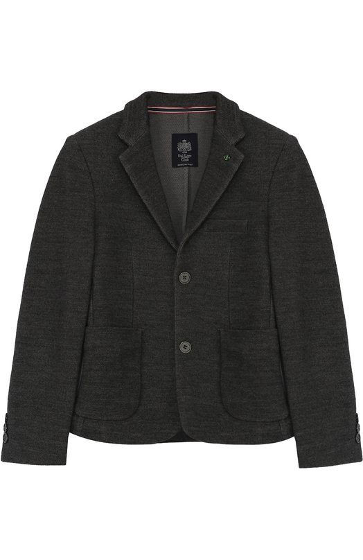 Шерстяной однобортный пиджак Dal LagoПиджаки<br><br><br>Размер Years: 8<br>Пол: Мужской<br>Возраст: Детский<br>Размер производителя vendor: 128-134cm<br>Материал: Шерсть: 100%;<br>Цвет: Серый