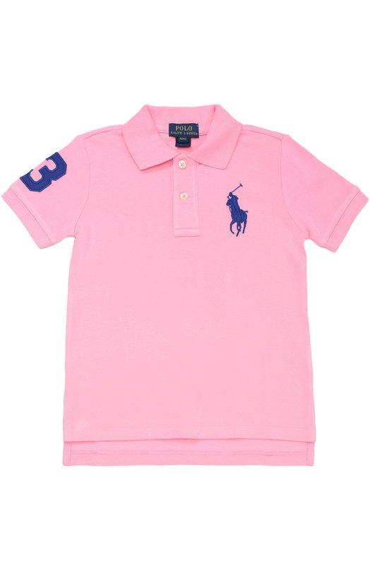 Хлопковое поло с короткими рукавами Polo Ralph LaurenПоло<br><br><br>Размер Months: 18<br>Пол: Мужской<br>Возраст: Детский<br>Размер производителя vendor: 86-92cm<br>Материал: Хлопок: 100%;<br>Цвет: Розовый