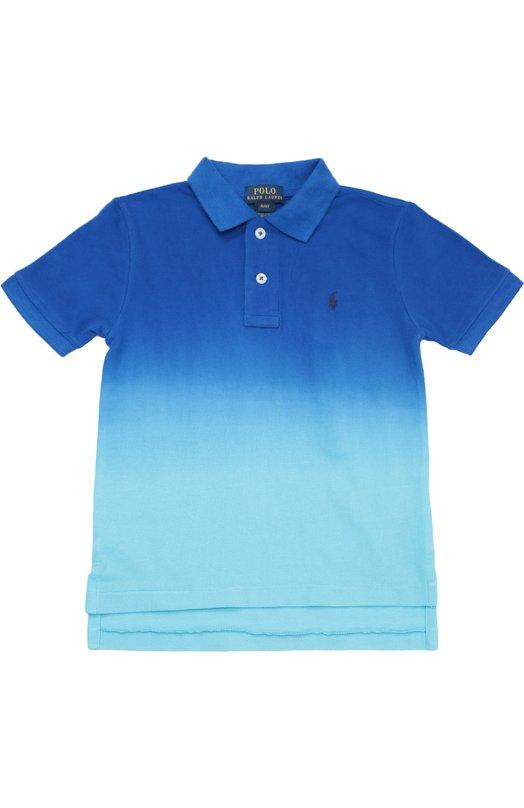 Хлопковое поло с короткими рукавами Polo Ralph LaurenПоло<br><br><br>Размер Years: 2<br>Пол: Мужской<br>Возраст: Детский<br>Размер производителя vendor: 92-98cm<br>Материал: Хлопок: 100%;<br>Цвет: Синий