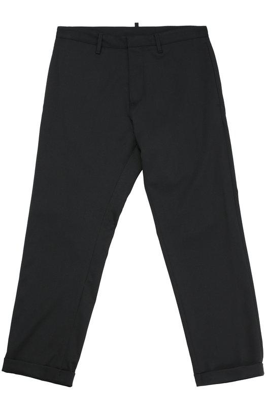 Шерстяные брюки прямого кроя Dsquared2 DQ01YJ/D00KA/10-16