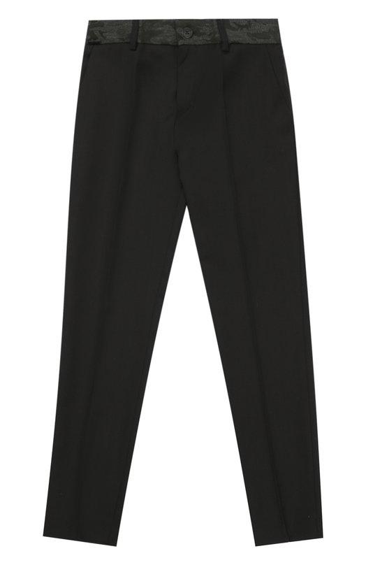 Шерстяные брюки прямого кроя Jean Paul GaultierБрюки<br><br><br>Размер Years: 12<br>Пол: Мужской<br>Возраст: Детский<br>Размер производителя vendor: 146-160cm<br>Материал: Шерсть: 100%;<br>Цвет: Черный