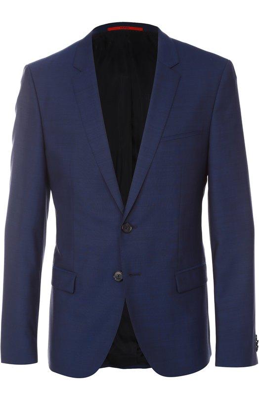 Шерстяной костюм с пиджаком на двух пуговицах HUGO 50326267