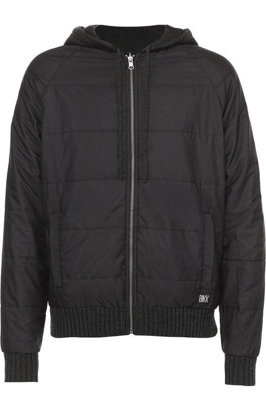Двусторонняя утепленная куртка Dirk BikkembergsКуртки<br><br><br>Российский размер RU: 48<br>Пол: Мужской<br>Возраст: Взрослый<br>Размер производителя vendor: M<br>Материал: Шерсть: 50%; Акрил: 50%; Подкладка-полиэстер: 100%;<br>Цвет: Темно-серый