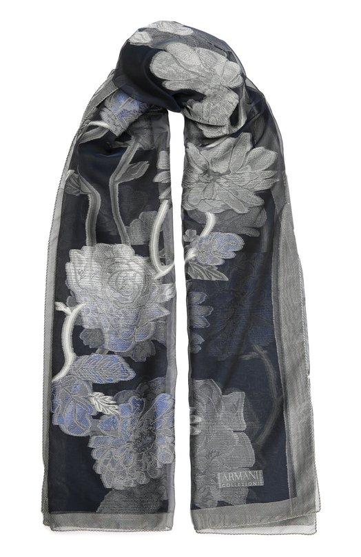 Шарф с цветочным принтом Armani Collezioni 695268/6A727