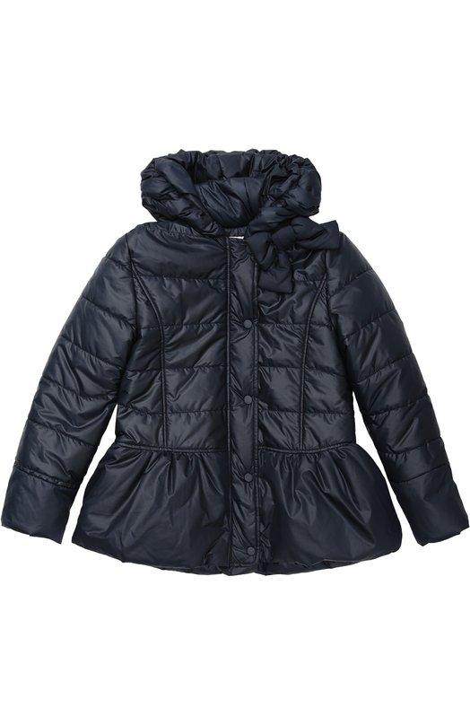 Приталенная куртка с капюшоном AlettaВерхняя одежда<br><br><br>Размер Years: 11<br>Пол: Женский<br>Возраст: Детский<br>Размер производителя vendor: 146cm<br>Материал: Полиэстер: 100%; Подкладка-полиэстер: 100%;<br>Цвет: Синий