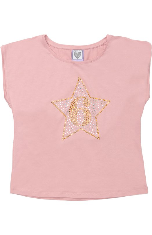 Футболка джерси с аппликацией Angel's Face TSHIRT/BDAYSTAR/6/BIRTHDAY TEE