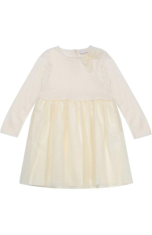 Платье джерси с бантом Il Gufo A16VL195/D0026/12-18M