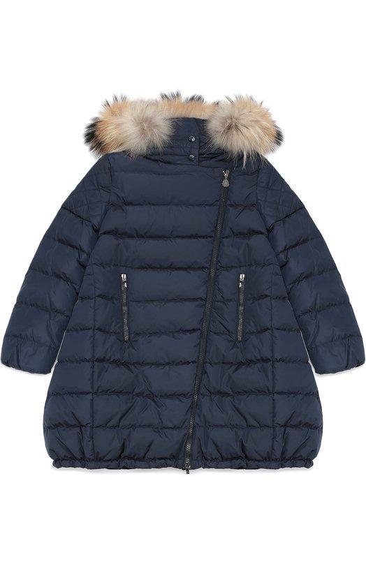 Пуховое пальто с капюшоном Moncler Enfant B2-954-49350-25-54155/8-10