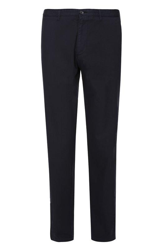 Купить Хлопковые брюки прямого кроя BOSS, 50325944, Румыния, Темно-синий, Хлопок: 100%;