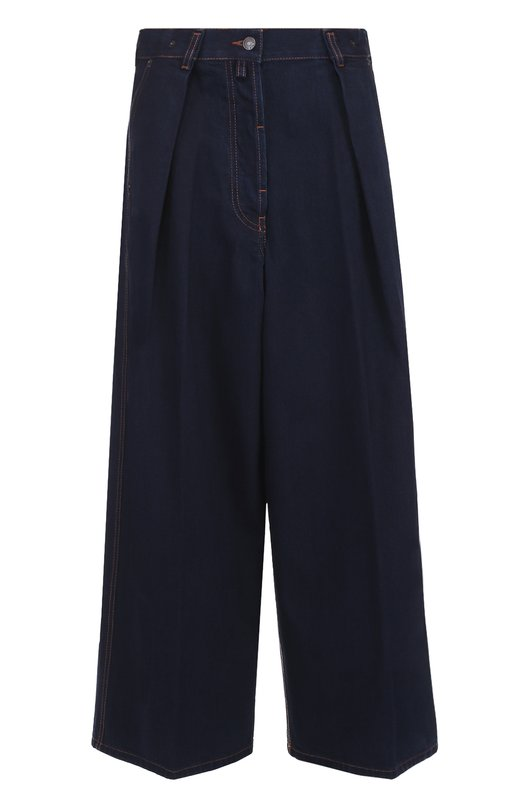 Широкие джинсы прямого кроя с защипами Dries Van NotenДжинсы<br><br><br>Российский размер RU: 42<br>Пол: Женский<br>Возраст: Взрослый<br>Размер производителя vendor: 36<br>Материал: Хлопок: 100%;<br>Цвет: Синий