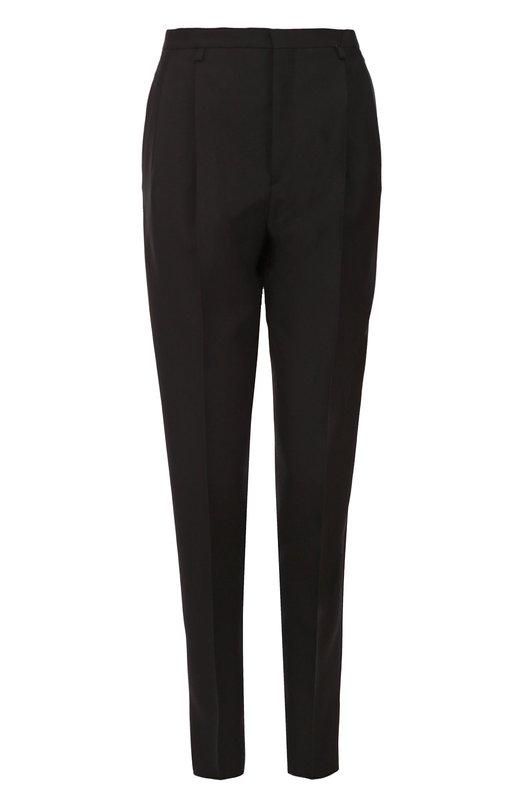 Шерстяные брюки с защипами Saint Laurent 414555/Y239W