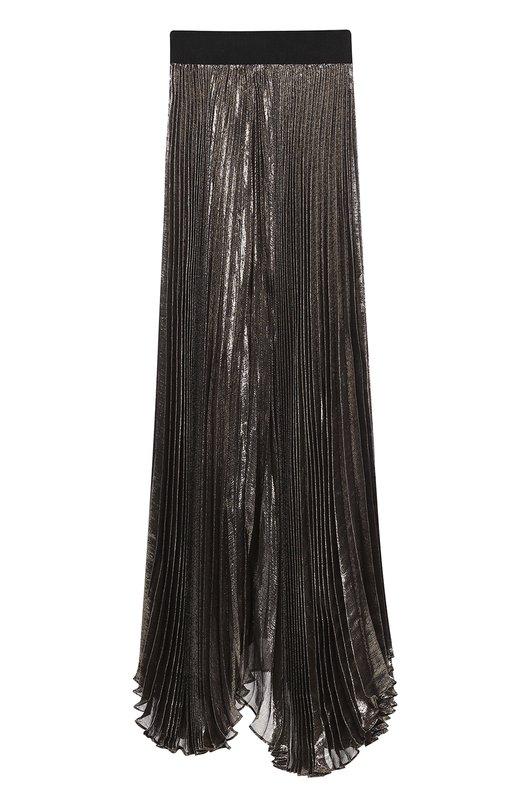 Плиссированная юбка-макси с металлизированной отделкой Alice + Olivia C608344670