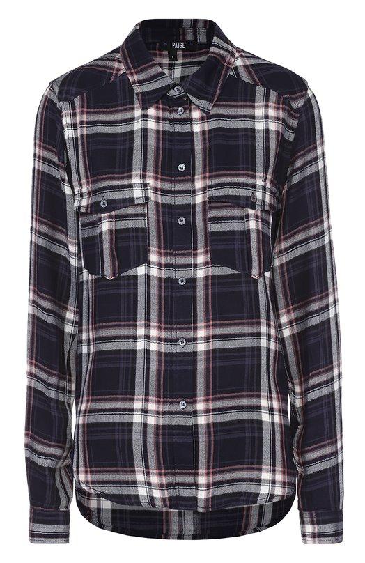 Блуза в клетку прямого кроя с накладными карманами PaigeБлузы<br><br><br>Российский размер RU: 44<br>Пол: Женский<br>Возраст: Взрослый<br>Размер производителя vendor: S<br>Материал: Вискоза: 100%;<br>Цвет: Разноцветный