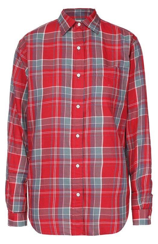 Блуза в клетку прямого кроя с накладным карманом Denim&Supply by Ralph Lauren W04/RLRDJ/SDFAZ