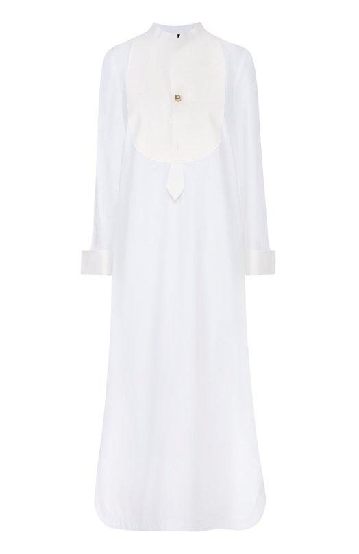 Платье-рубашка свободного кроя с высокими разрезами Erika CavalliniПлатья<br><br><br>Российский размер RU: 42<br>Пол: Женский<br>Возраст: Взрослый<br>Размер производителя vendor: 40<br>Материал: Хлопок: 100%;<br>Цвет: Белый