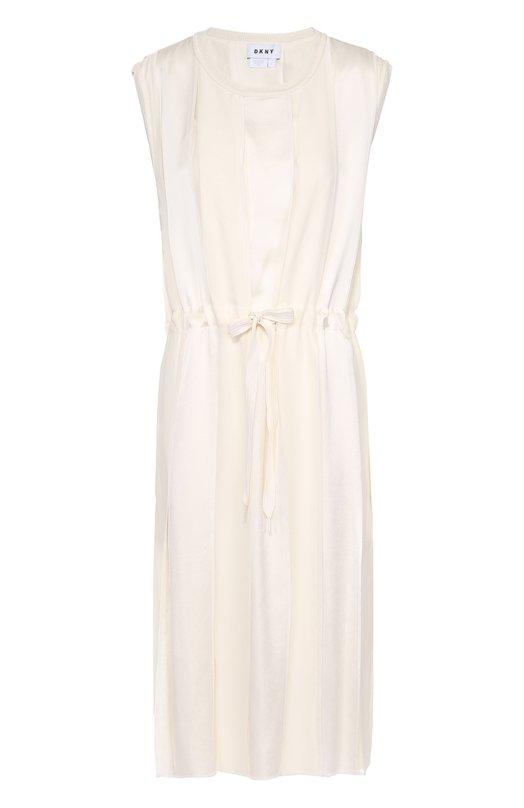 Приталенное платье без рукавов с круглым вырезом DKNY P4672703SA