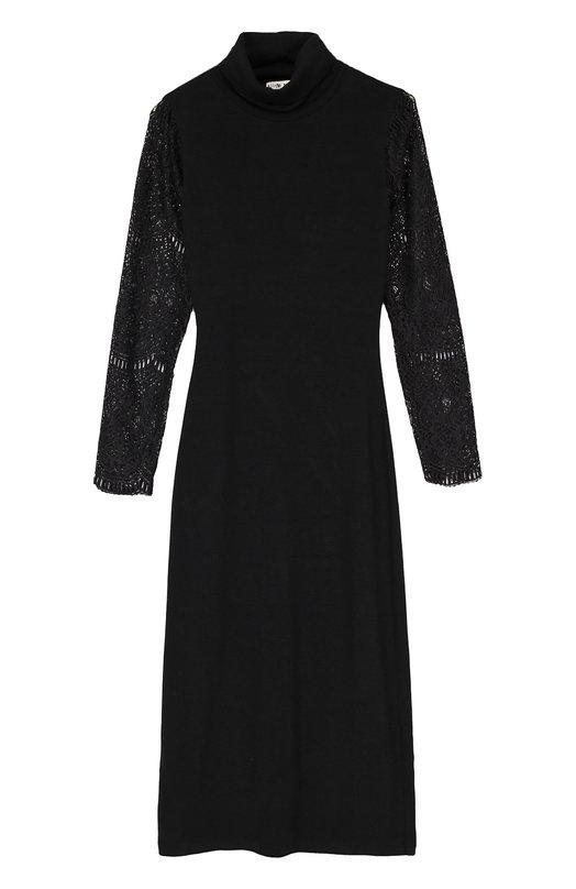 Платье-футляр с прозрачными кружевными рукавами Alice + Olivia C608563302