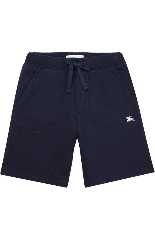 Хлопковые шорты с карманами Burberry 4009280
