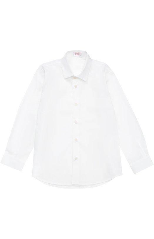 Хлопковая рубашка с воротником кент Il Gufo A16CL110/C0031/5-8
