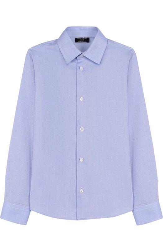 Хлопковая рубашка с воротником кент Dal LagoРубашки<br><br><br>Размер Years: 7<br>Пол: Мужской<br>Возраст: Детский<br>Размер производителя vendor: 122-128cm<br>Материал: Хлопок: 100%;<br>Цвет: Синий