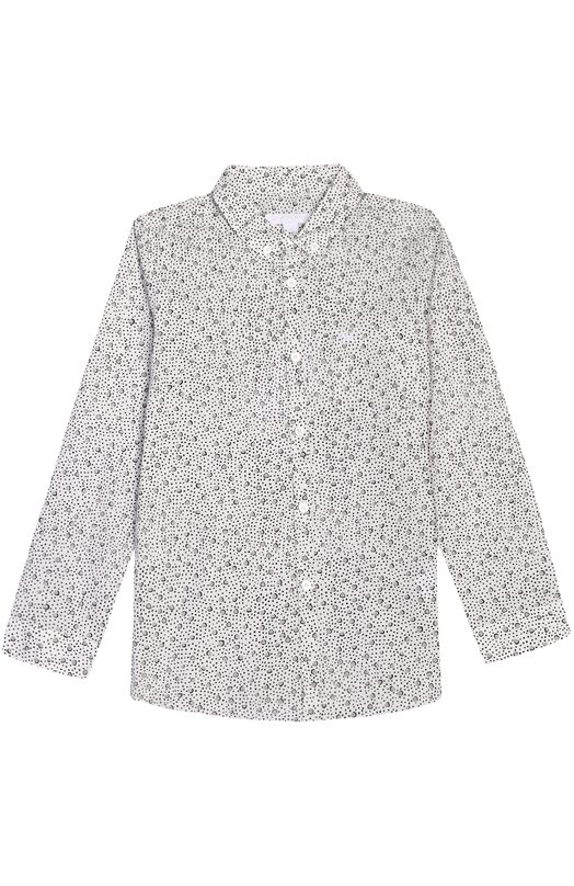 Хлопковая рубашка с воротником button down Burberry 4018234