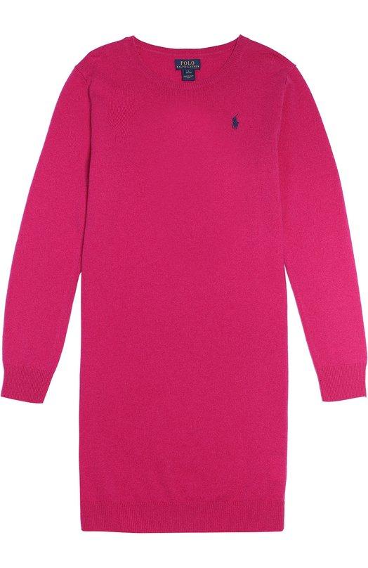 Шерстяное платье с логотипом бренда Polo Ralph LaurenПлатья<br><br><br>Размер Years: 8<br>Пол: Женский<br>Возраст: Детский<br>Размер производителя vendor: 128-134cm<br>Материал: Шерсть: 100%;<br>Цвет: Фуксия