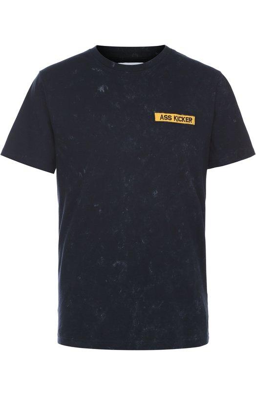 Хлопковая футболка с принтом на спине ElevenparisФутболки<br><br><br>Российский размер RU: 52<br>Пол: Мужской<br>Возраст: Взрослый<br>Размер производителя vendor: XL<br>Материал: Хлопок: 100%;<br>Цвет: Черный
