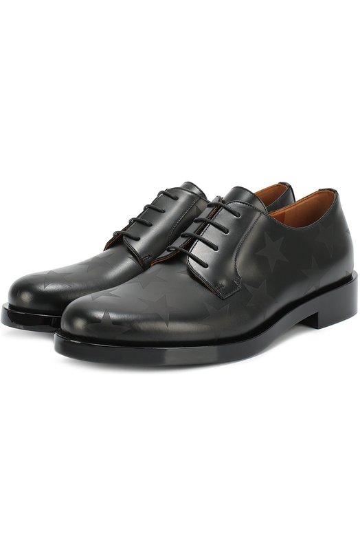 Кожаные ботинки Hologram Stars с принтом Valentino LW2S0A70/SAB